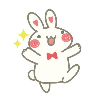 喜ぶウサギ