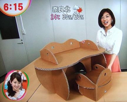 コロナウィルスの影響で注目されています。軽くて丈夫!ダンボールで作った家具が人気?
