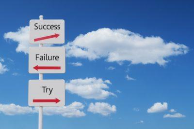成功か失敗の矢印